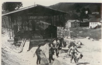 Špičák I stavba dolní stanice 1966