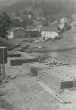 Špičák výstavba dolní stanice vleku 1965